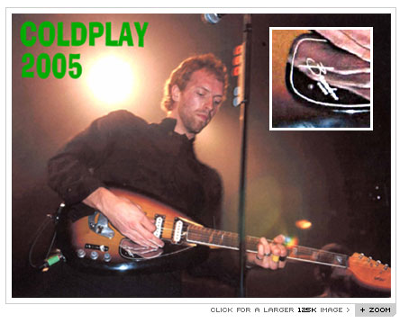 Chris Martin of Coldplay and a Brandoni Custom 
